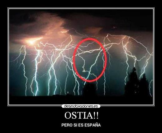"Qué significa ""ostia"" en España"