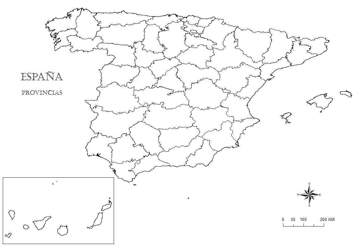 Mapa de España para colorear