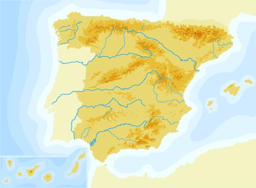 Mapa mudo de España