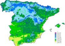 Mapa del clima promedio anual en España