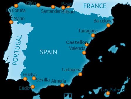 Principales puertos de España