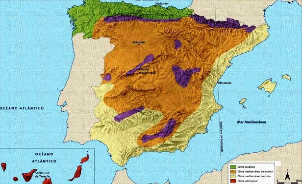 ¿Cuáles son las regiones naturales de España?