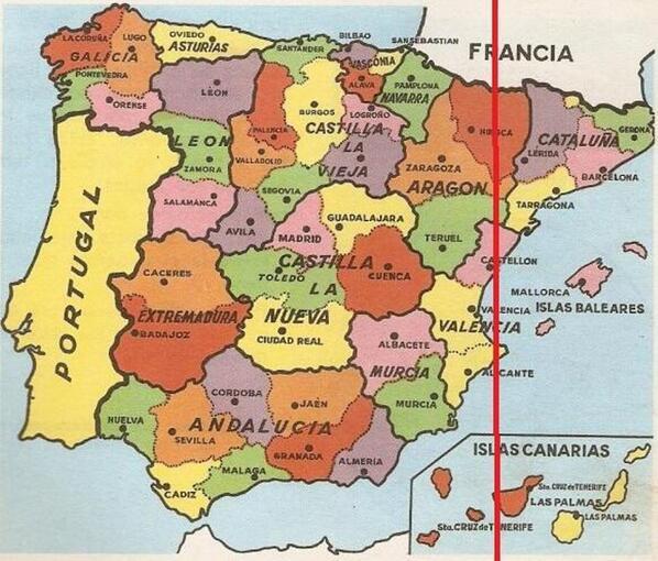 ¿Por dónde pasa el meridiano de Greenwich en España?
