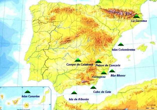 Volcanes activos e inactivos de España
