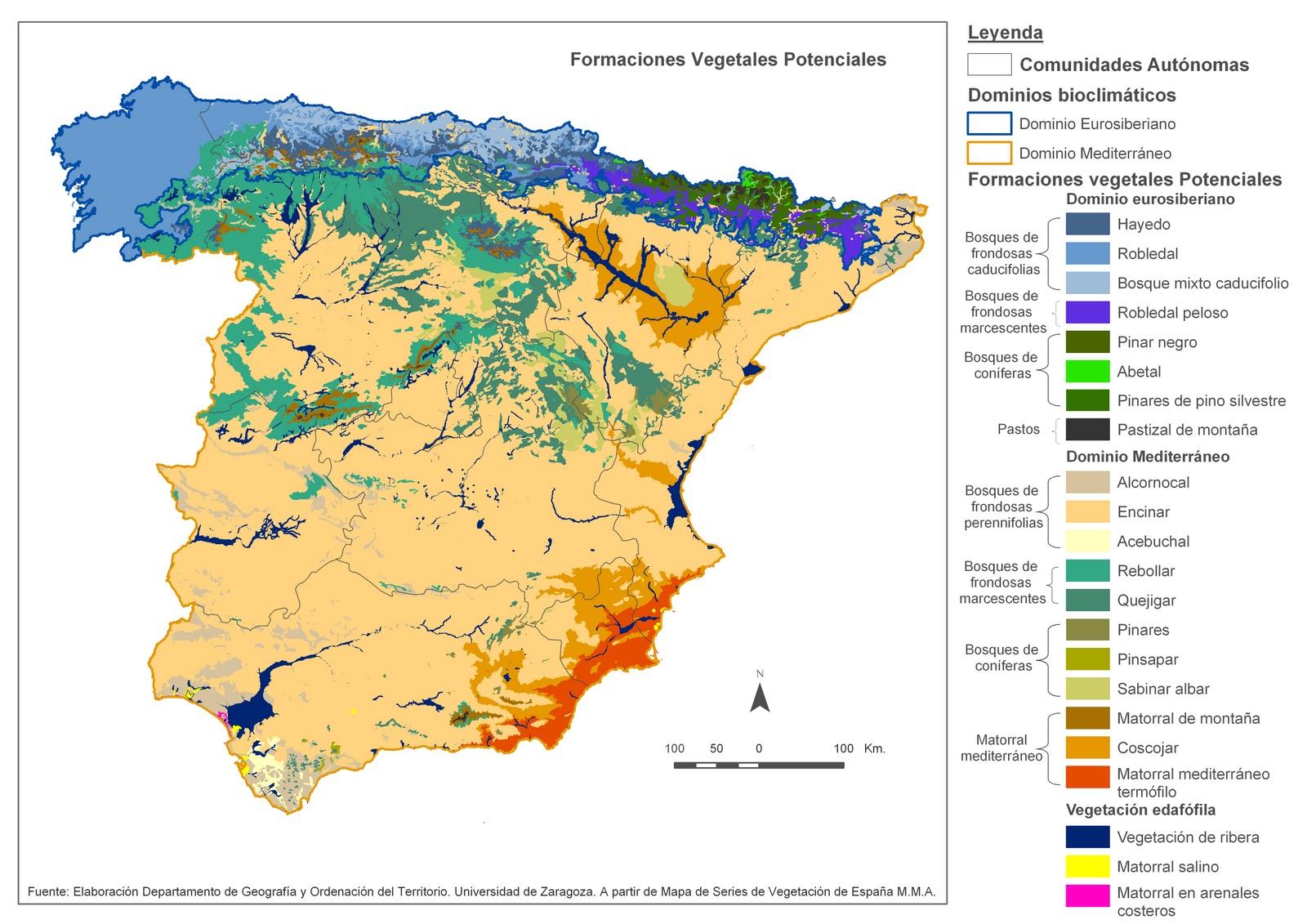 Biomas de España y sus características